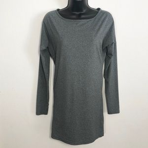 Lucy XS Tall Petite long sleeved gray workout top